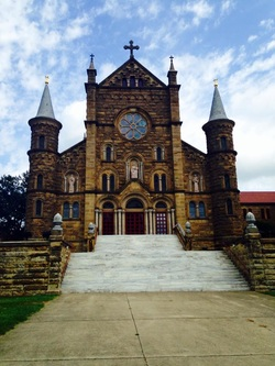 A photo of Saint Meinrad Archabbey in Saint Meinrad, Indiana.